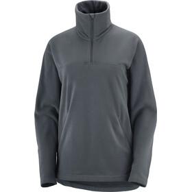 Salomon Sntial Cosy Fleece Half Zip LS Shirt Women, grijs